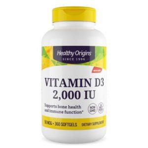 Vitamine D3 2000IU Healthy Origins, iHealthy.nl